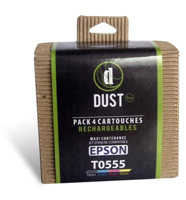 DUST Eco Pack 4 cart. rechargeables T0555 - Cybertek.fr - 0
