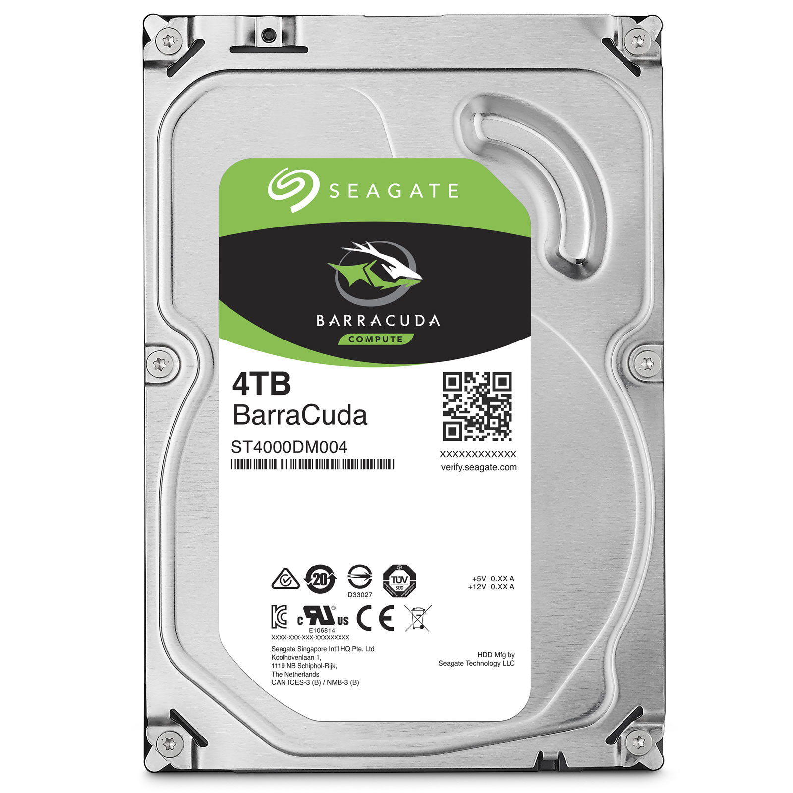 "Seagate 4To 5400tr SATA III 256Mo Barracuda ST4000DM004 - Disque dur interne 3.5"" - 0"