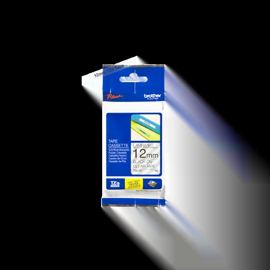 Ruban transparent Caractères Noirs 12mm - TZE131 pour imprimante  Brother - 0