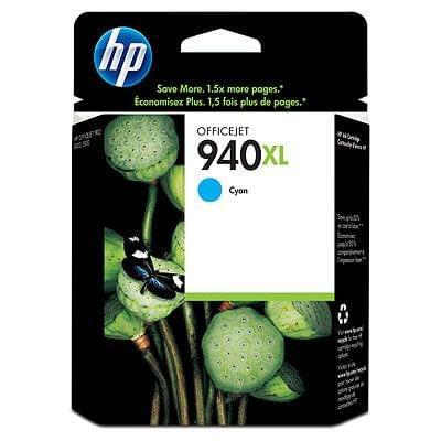 Cartouche 940XL Cyan - C4907AE pour imprimante Jet d'encre HP - 0