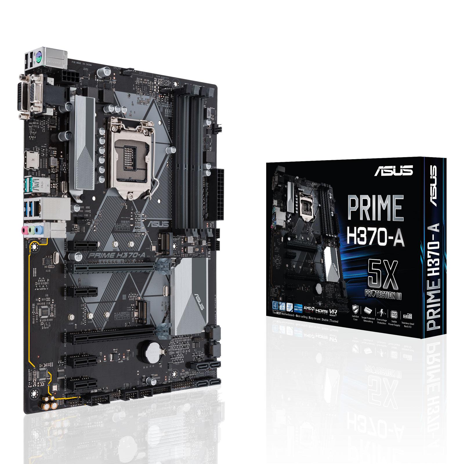 Asus PRIME H370-A ATX DDR4 - Carte mère Asus - Cybertek.fr - 0