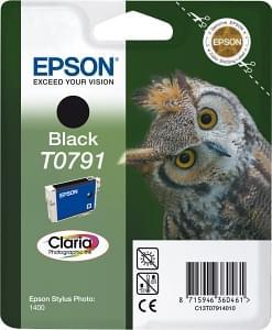 Cartouche Noire T0791 pour imprimante Jet d'encre Epson - 0