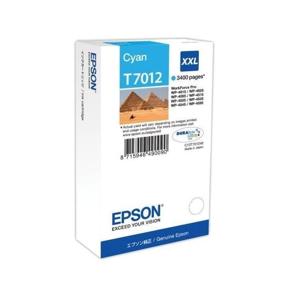 Epson Cartouche d'encre Cyan XXL T7012 (C13T70124010) - Achat / Vente Consommable Imprimante sur Cybertek.fr - 0