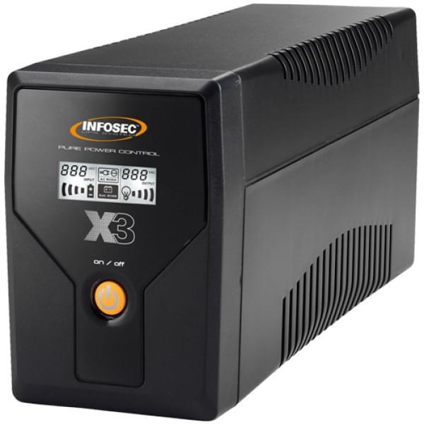 Infosec X3 EX LCD USB-650  (65966) - Achat / Vente Onduleur - Multiprises sur Cybertek.fr - 0