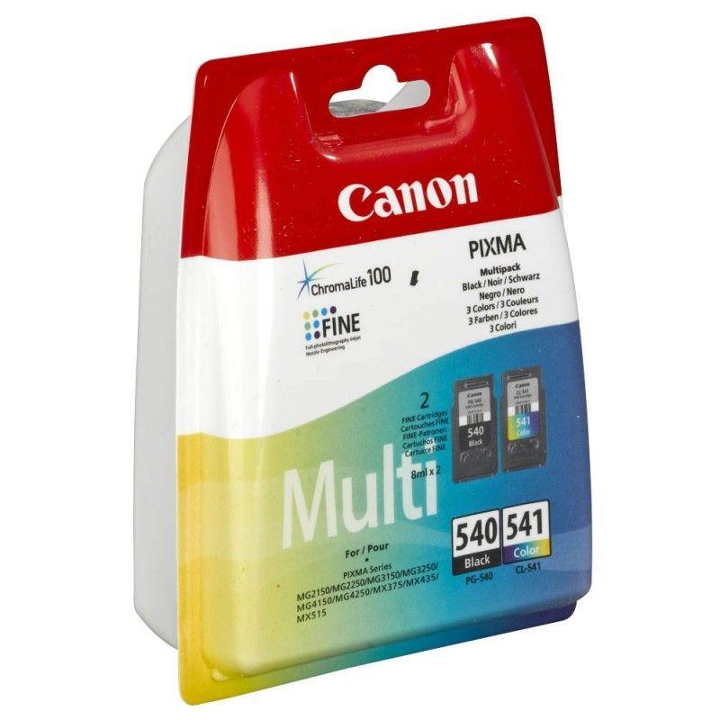 Pack Noir et Couleur PG-540 / CL-541 - 5225B007 pour imprimante Jet d'encre Canon - 0