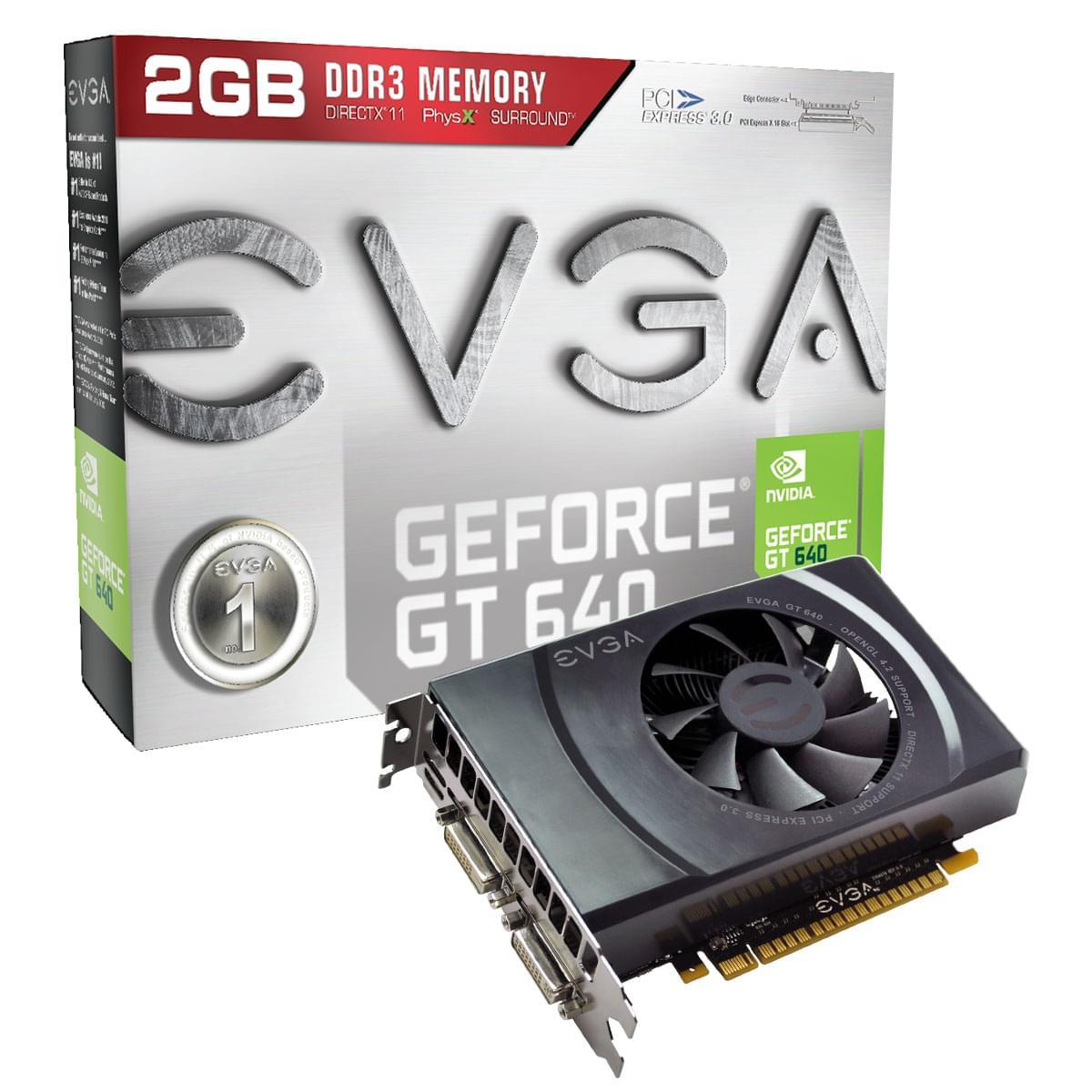 EVGA GT640 2G D34 2645 (02G-P4-2645-KR) - Achat / Vente Carte Graphique sur Cybertek.fr - 0