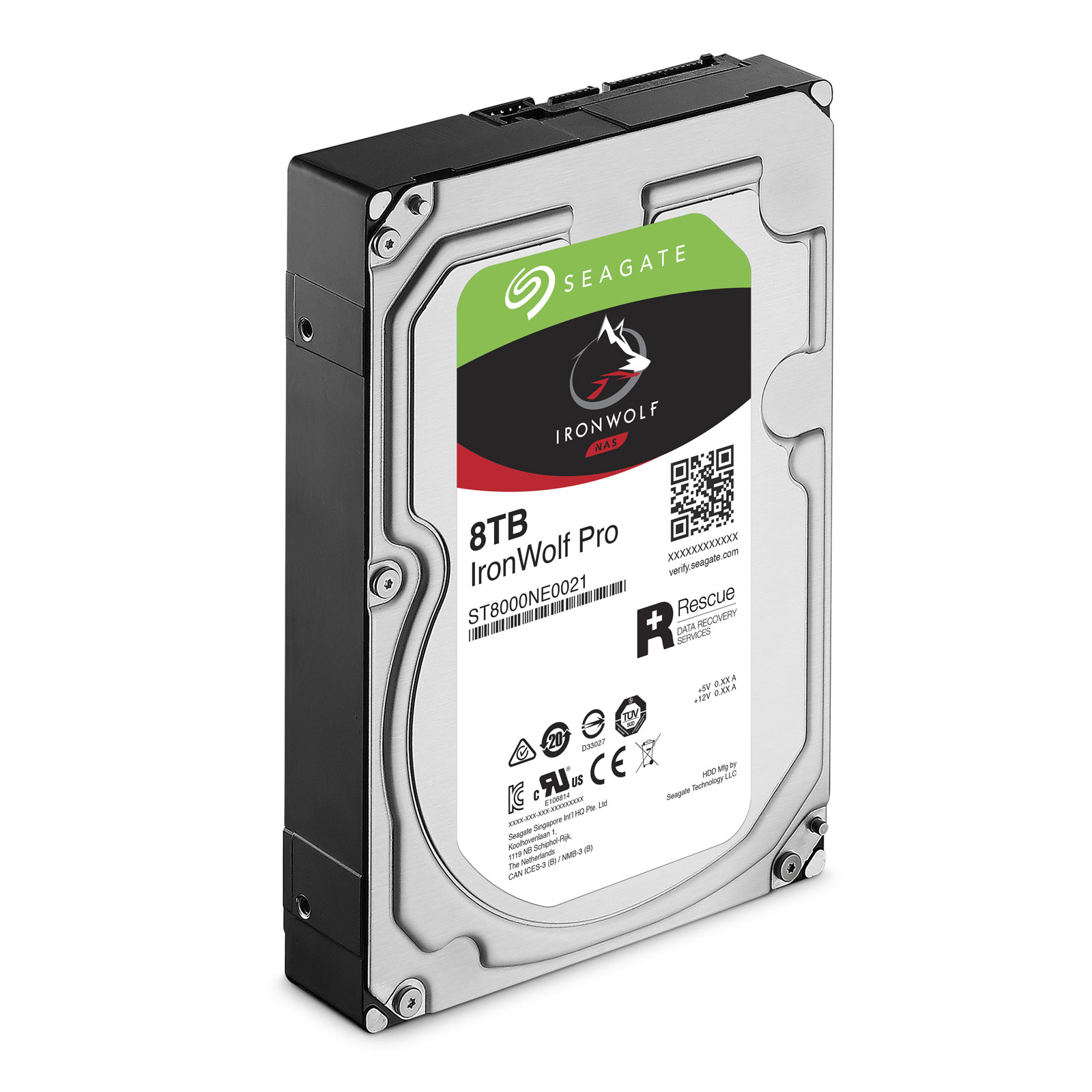 "Seagate 8To SATA III 256Mo IronWolf PRO ST8000NE0021 - Disque dur interne 3.5"" - 3"