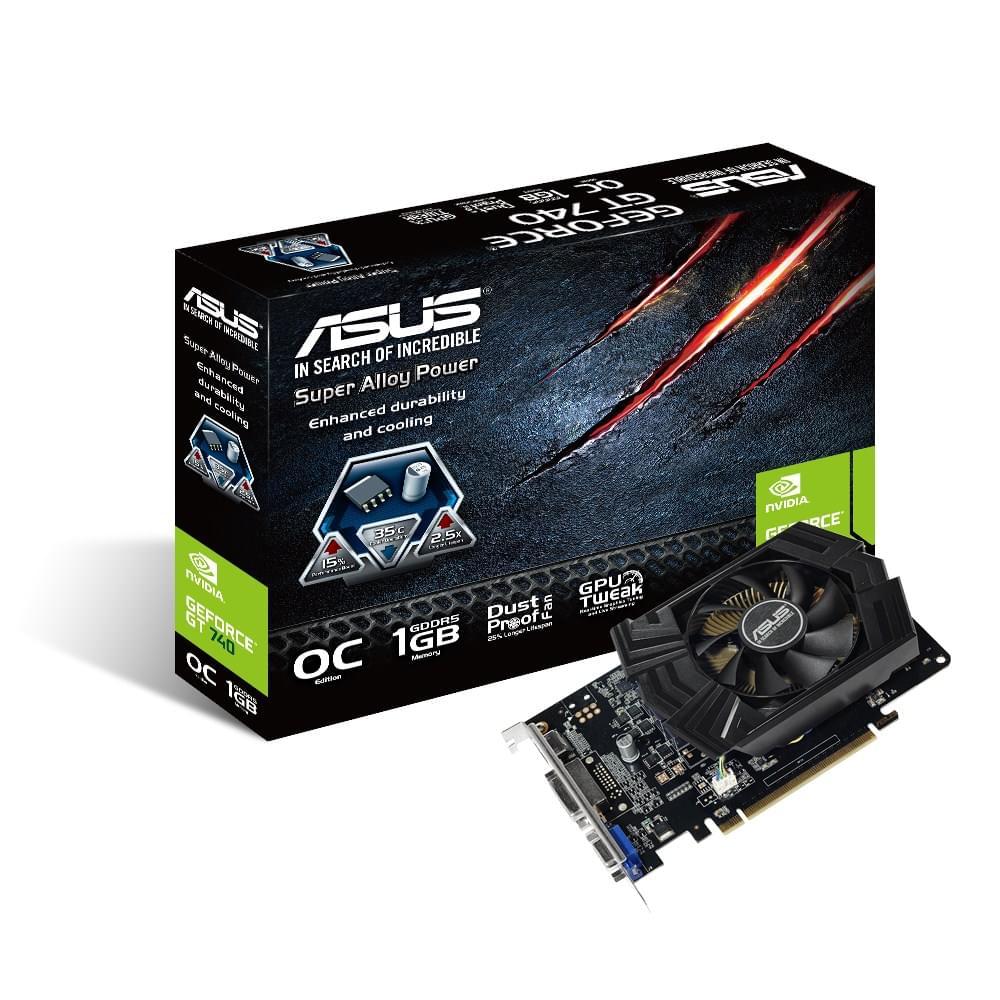 Asus GT740-OC-1GD5 (GT740-OC-1GD5) - Achat / Vente Carte Graphique sur Cybertek.fr - 0