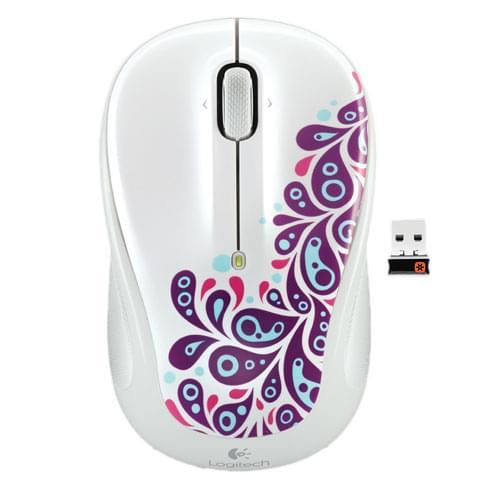 Logitech Wireless Mouse M325 White Paisley - Souris PC Logitech - 0