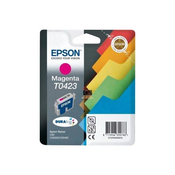 Cartouche T0423 Stylus C82 Magenta pour imprimante Jet d'encre Epson - 0
