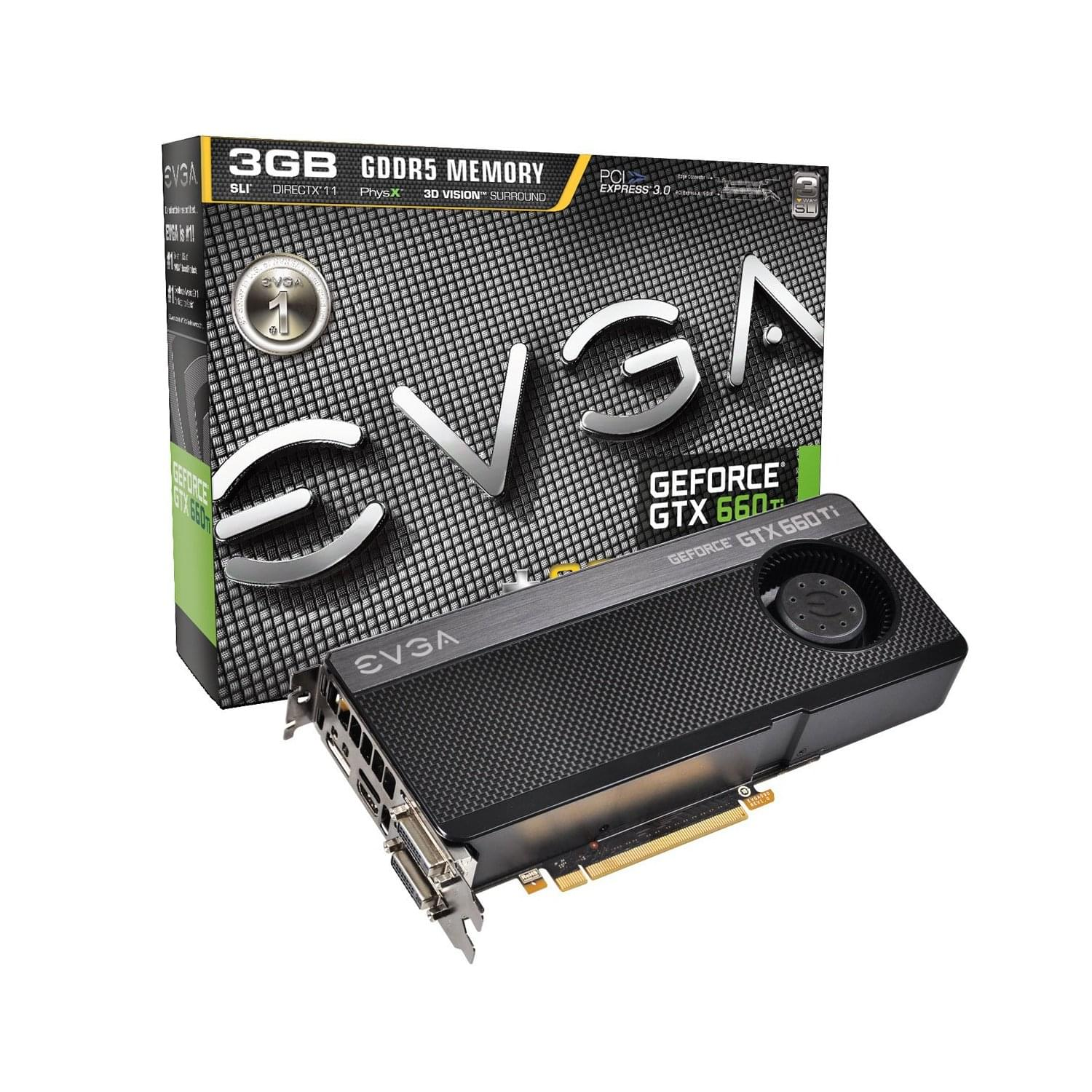 EVGA GTX 660 TI SuperClocked 3GB 03G-P4-3663-KR - Carte graphique - 0