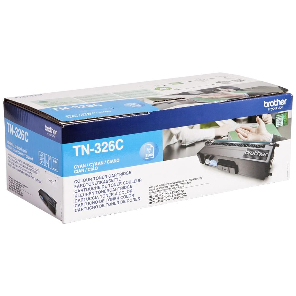 Toner Cyan 3500p - TN-326C pour imprimante Laser Brother - 0