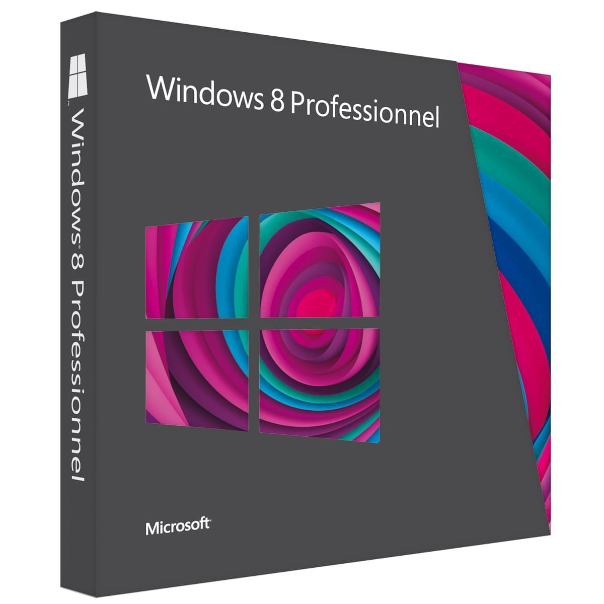 Microsoft MAJ Windows 8 Professionnel (3UR-00020) - Achat / Vente Logiciel système exploitation sur Cybertek.fr - 0