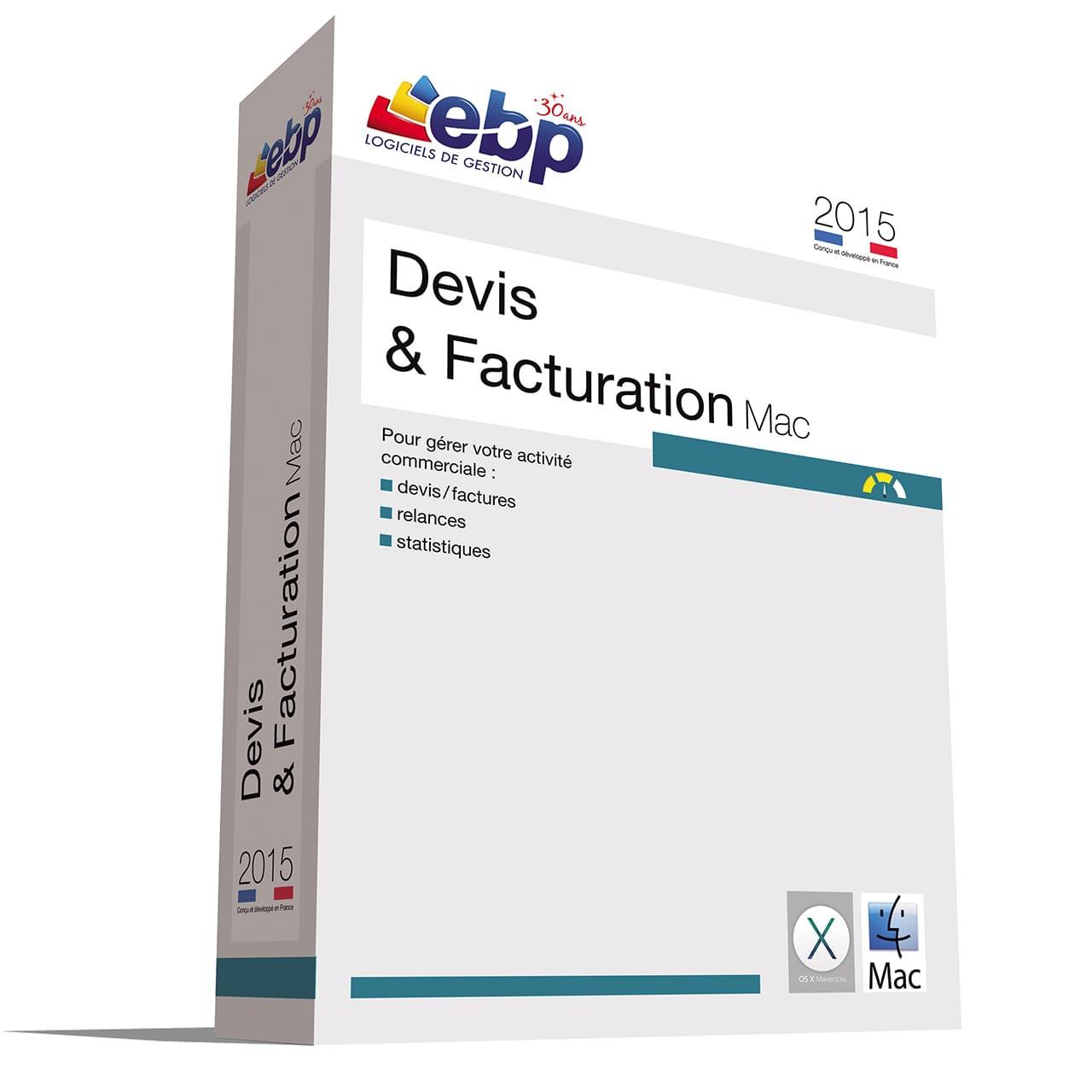 EBP Devis et Facturation MAC 2015 (1097J070FAB) - Achat / Vente Logiciel application sur Cybertek.fr - 0