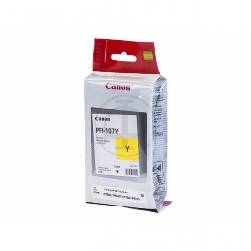 Cartouche Jaune PFI-107Y - 6708B001 pour imprimante  Canon - 0