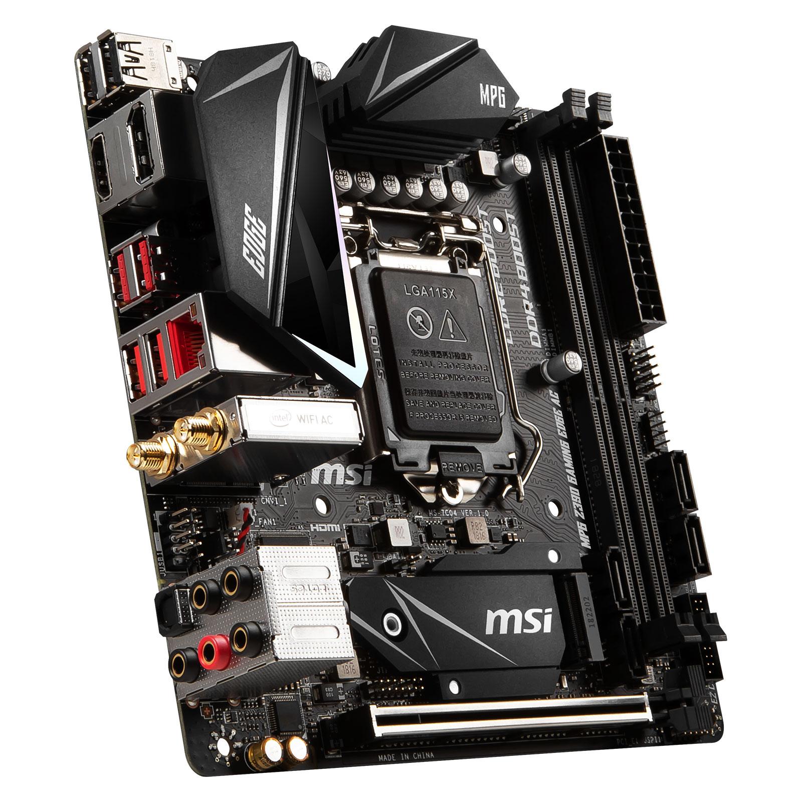 MSI Z390I GAMING EDGE AC Mini-ITX DDR4 - Carte mère MSI - 3