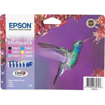 Multipack 6 cartouches T0807 pour imprimante Jet d'encre Epson - 0