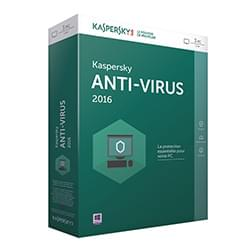 Kaspersky Logiciel sécurité Antivirus 2016 - 1 An / 3 PC Cybertek