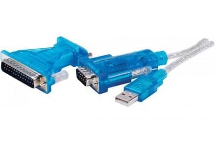 Câble DB9 mâle - USB - Connectique PC - Cybertek.fr - 0