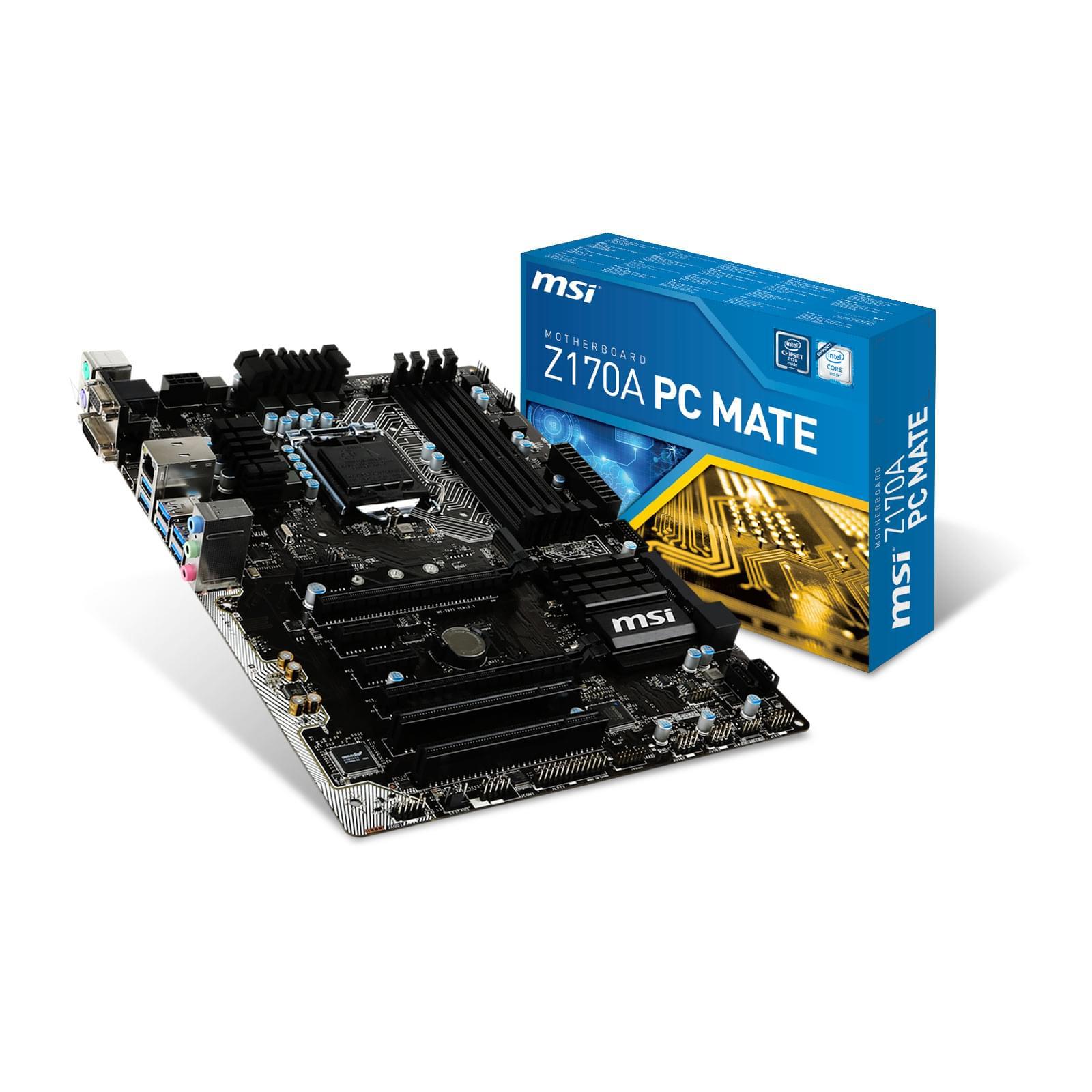 MSI Z170A PC MATE ATX DDR4 - Carte mère MSI - Cybertek.fr - 0