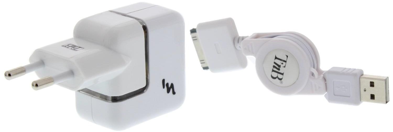 T'nB Chargeur allume-cigare + câble rétract. iPhone 3/4 (CHIPH05 **) - Achat / Vente Accessoire Téléphonie sur Cybertek.fr - 0