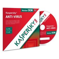 Kaspersky Logiciel sécurité Antivirus OEM - 1 An / 1 PC Cybertek