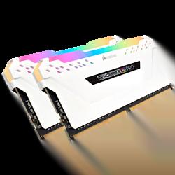 image produit Corsair CMW16GX4M2C3200C16W RGB (2x8Go DDR4 3200 PC25600) Cybertek