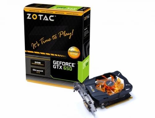 ZOTAC GF GTX 650 OC (ZT-61002-10M) - Achat / Vente Carte Graphique sur Cybertek.fr - 0
