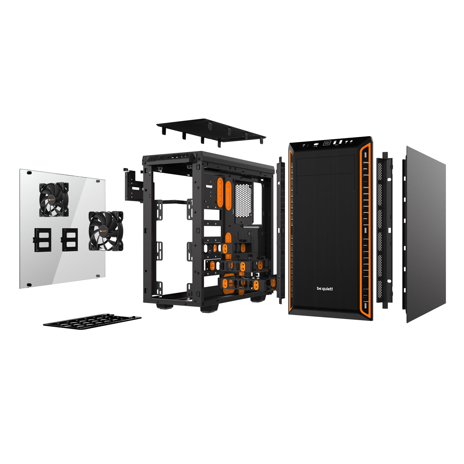 Be Quiet! mT/Ss Alim/ATX Orange - Boîtier PC Be Quiet! - 2
