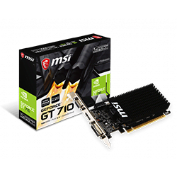 MSI Carte Graphique GT 710 1GD3H LP - GF710/1Go/HDMI/DVI Cybertek