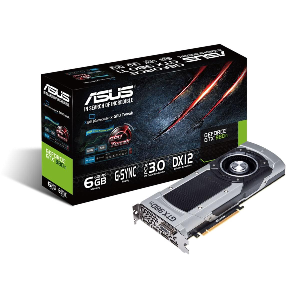 Asus GTX980Ti (90YV08M0-U0NM00) - Achat / Vente Carte Graphique sur Cybertek.fr - 0