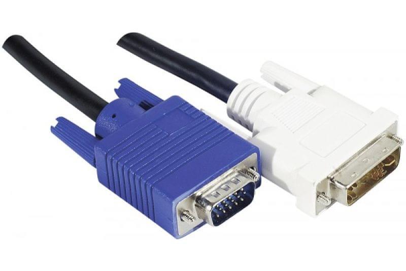 No Name Câble DVI Male vers VGA (127701) - Achat / Vente Connectique PC sur Cybertek.fr - 0