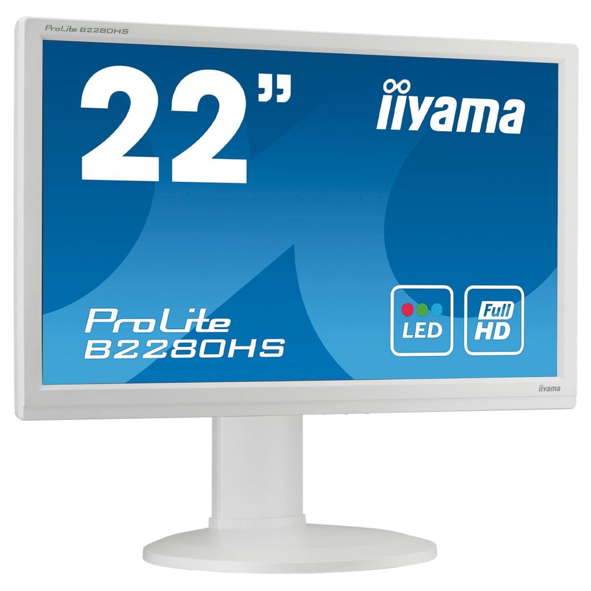"Iiyama 22""  B2280HS-W1 - Ecran PC Iiyama - Cybertek.fr - 0"
