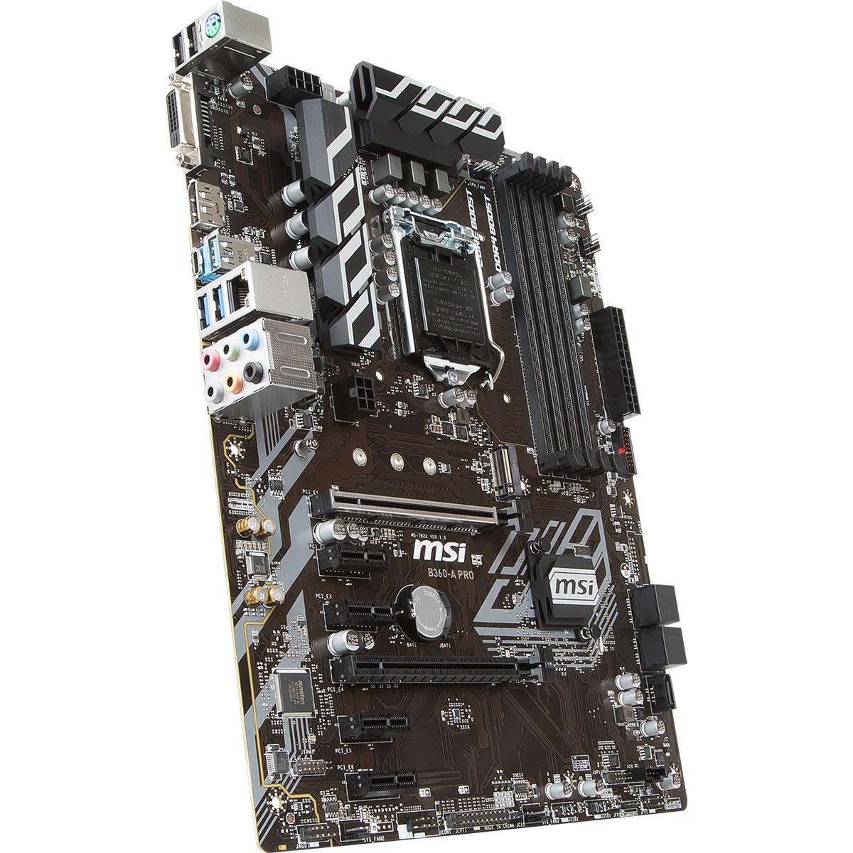 MSI B360-A PRO ATX DDR4 - Carte mère MSI - Cybertek.fr - 3