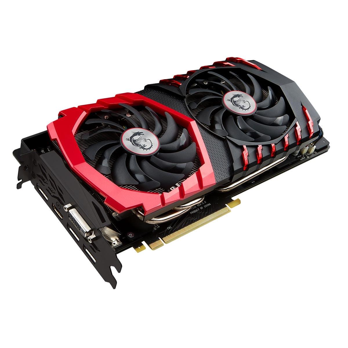 MSI nVidia GF GTX 1080 - 8Go - carte Graphique pour Gamer - GPU nVidia - 1