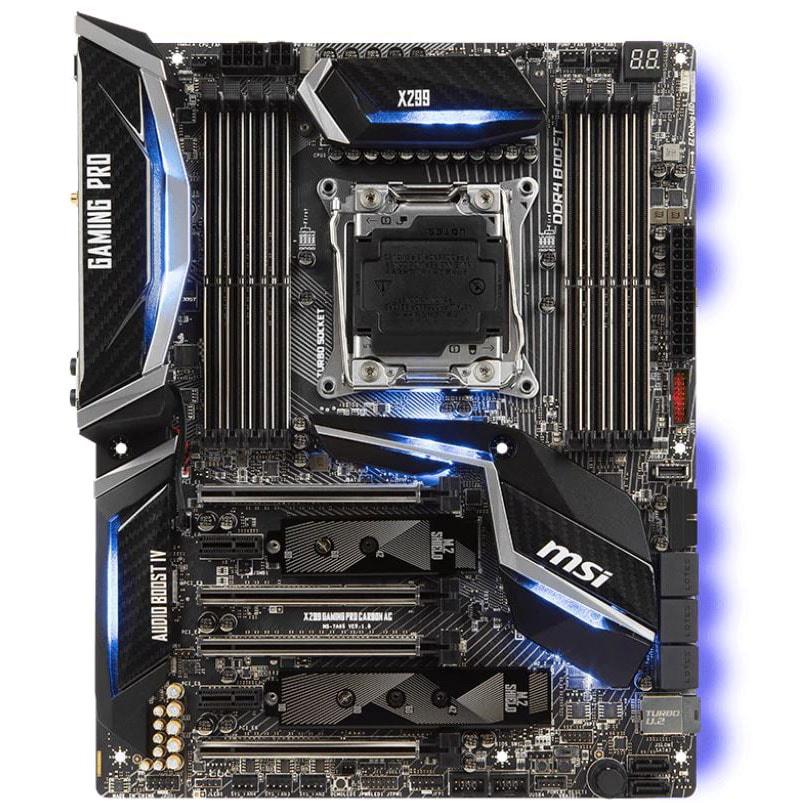 MSI X299 GAMING PRO CARBON AC  DDR4 - Carte mère MSI - Cybertek.fr - 2