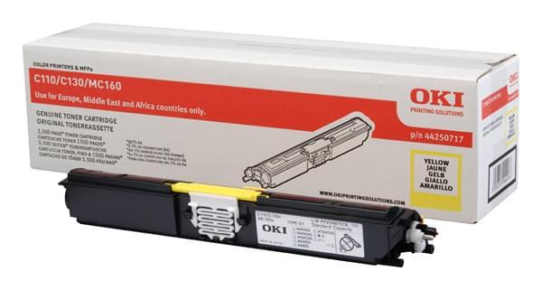 Toner Jaune 1500p - 44250717 pour imprimante Laser Oki - 0