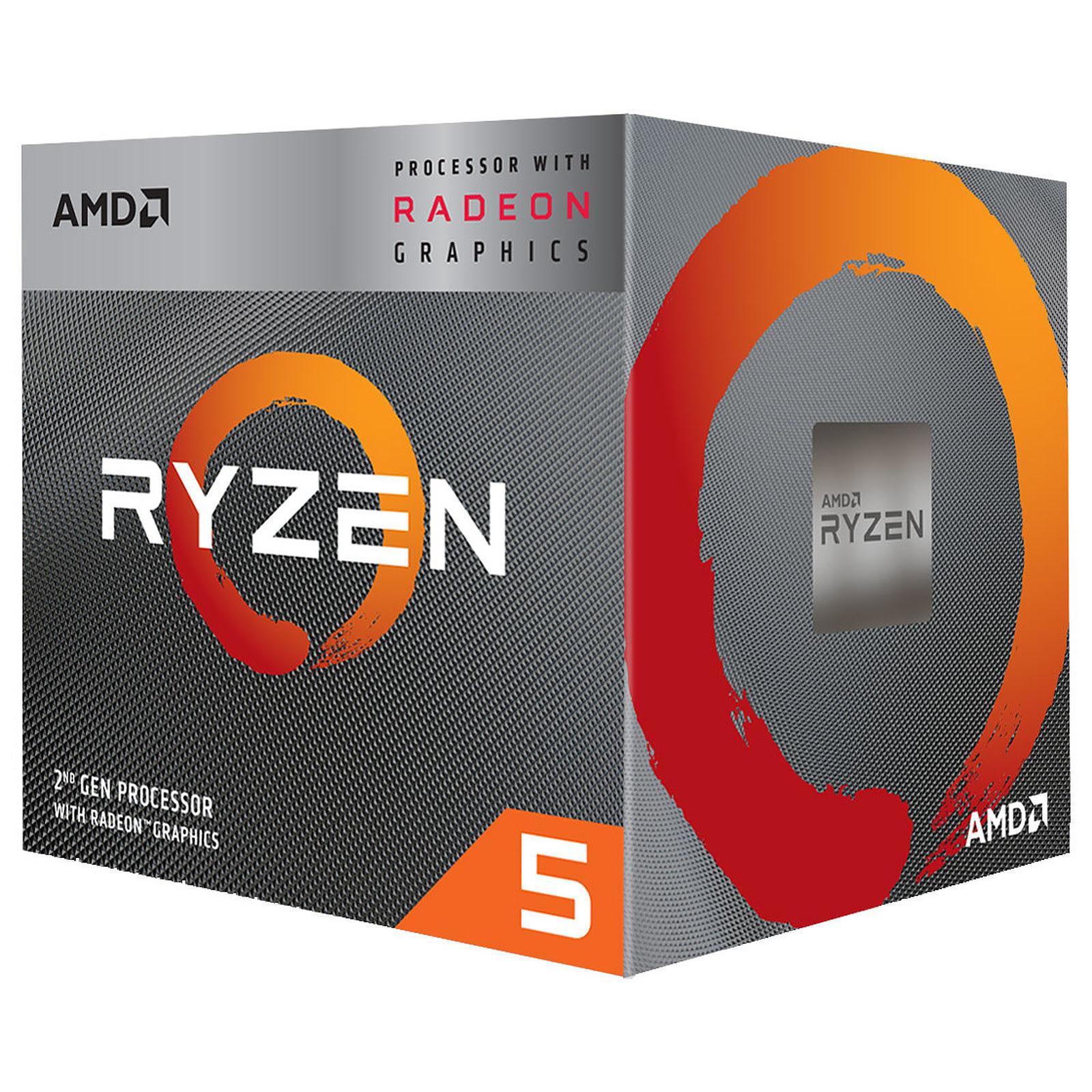 AMD Ryzen 5 3400G - 4.2GHz - Processeur AMD - Cybertek.fr - 0