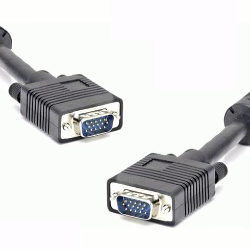 Câble SVGA M/M Blindé et Ferrite - 5m - Connectique PC - 0