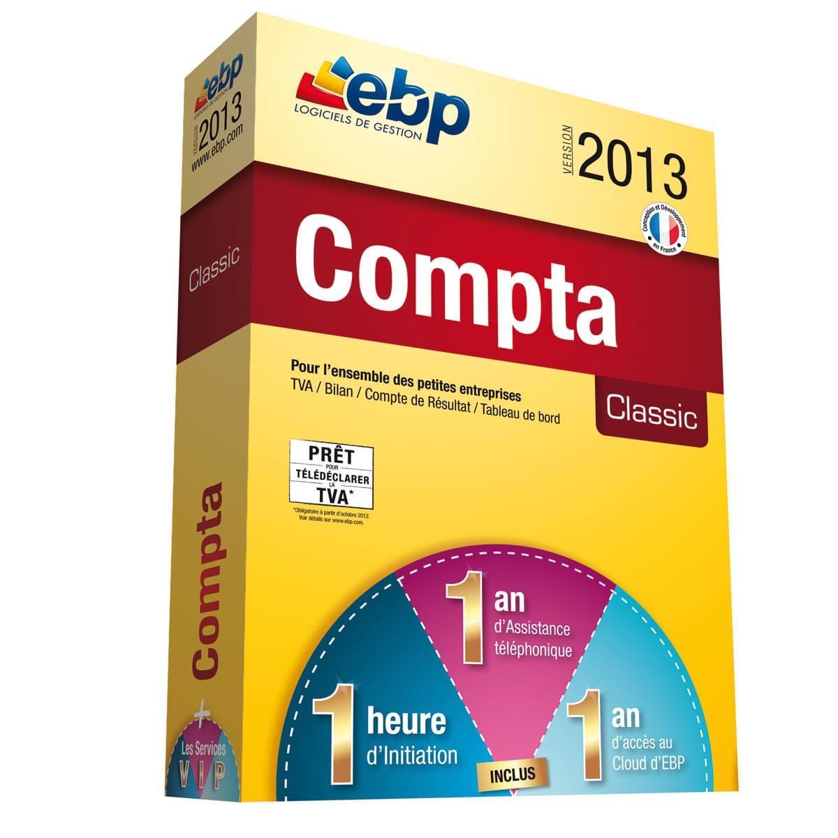 EBP Compta Classic 2013 + Services VIP (1066J051FAA) - Achat / Vente Logiciel Application sur Cybertek.fr - 0