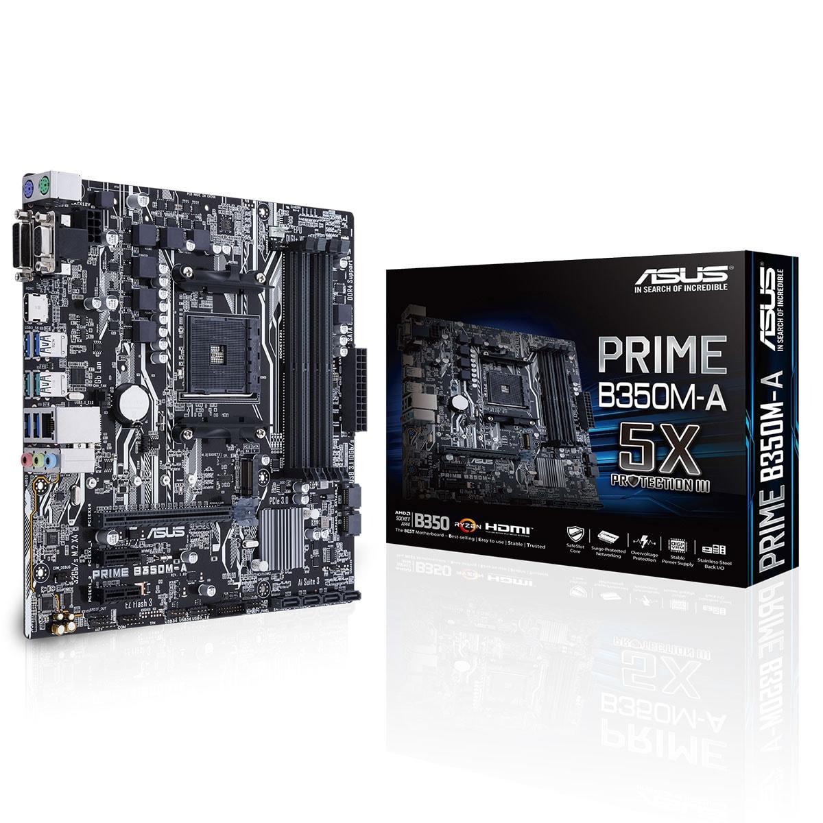 Asus PRIME B350M-A Micro-ATX DDR4 - Carte mère Asus - Cybertek.fr - 0