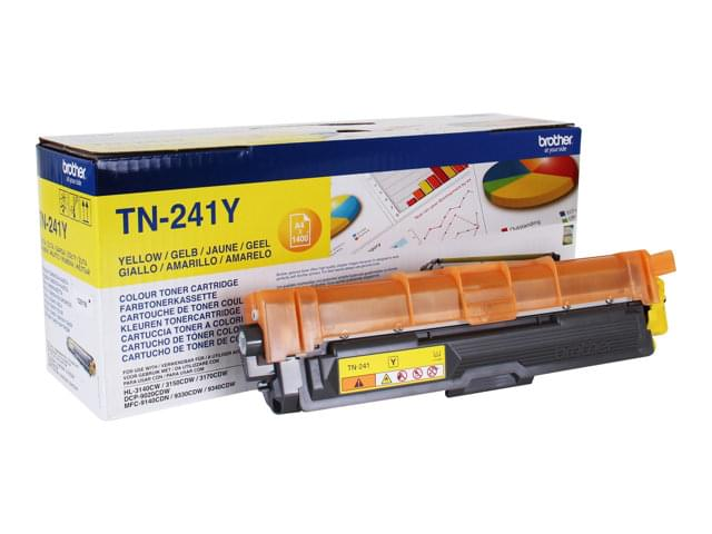 Toner Jaune TN241Y 1400p pour imprimante Laser Brother - 0