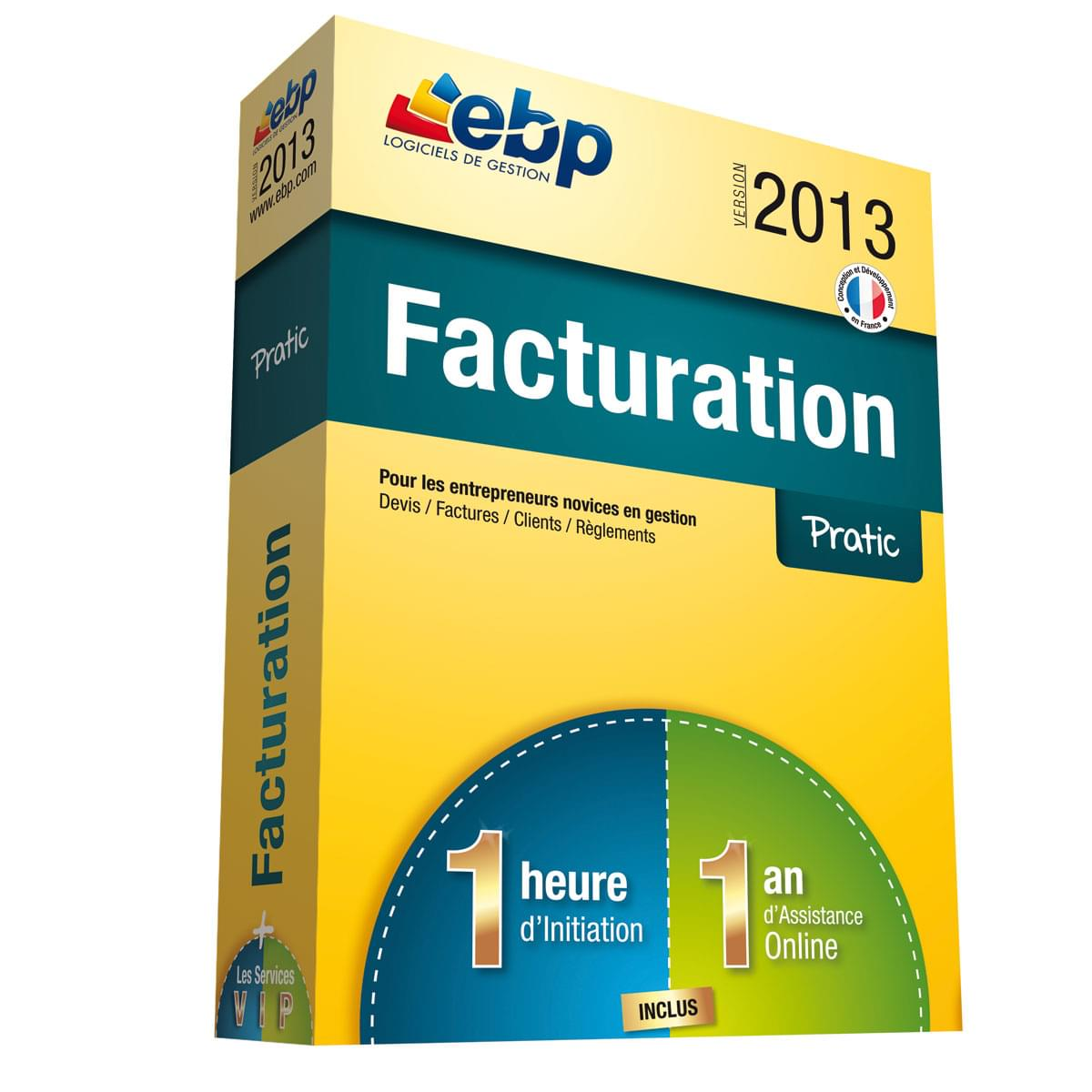 EBP Facturation Pratic 2013 + Services VIP (1008E051FAB) - Achat / Vente Logiciel application sur Cybertek.fr - 0