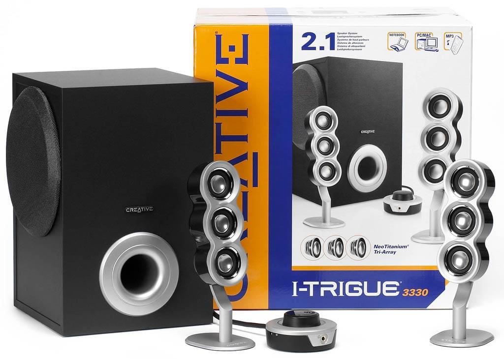 Creative I-Trigue 3330 Noir/Silver 2.1 (51MF0236AA001) - Achat / Vente Enceinte PC sur Cybertek.fr - 0