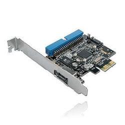 PCI-E SATA II 1 port interne/1 eSATA/ 1 port IDE - Carte contrôleur - 0