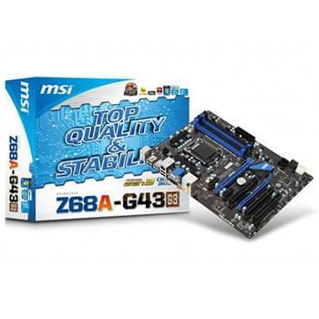 MSI Z68 AG43 G3 (Z68A-G43 (G3) (PI recyclé) soldé) - Achat / Vente Carte mère sur Cybertek.fr - 0