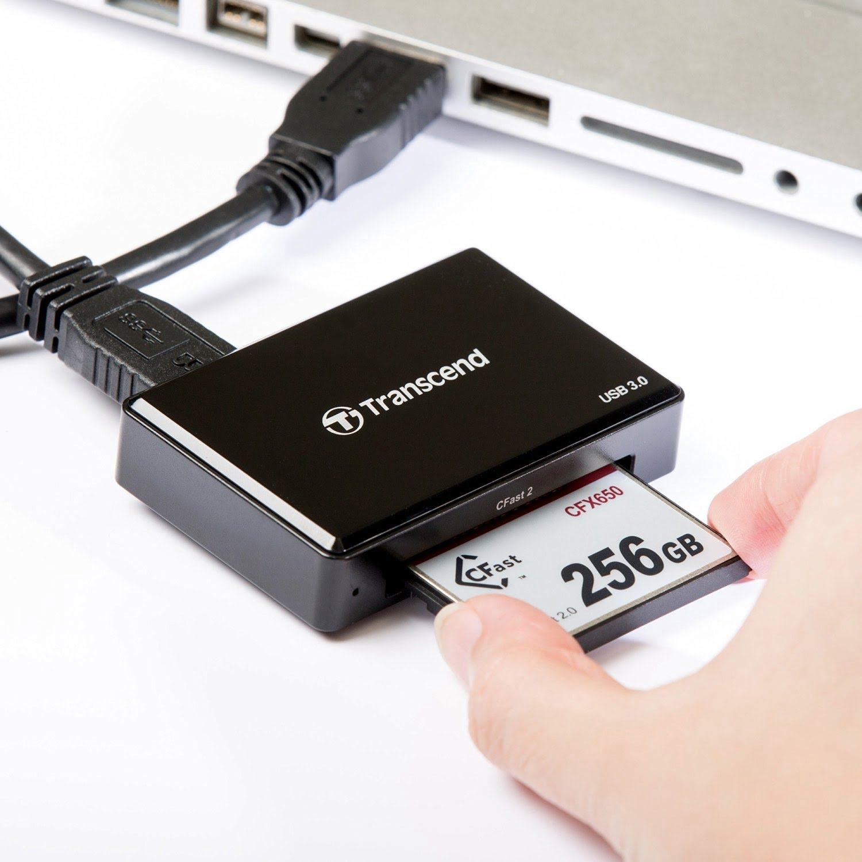 Transcend TS-RDF2 Lecteur CFast 2.0 USB3 (TS-RDF2) - Achat / Vente Lecteur carte mémoire sur Cybertek.fr - 2