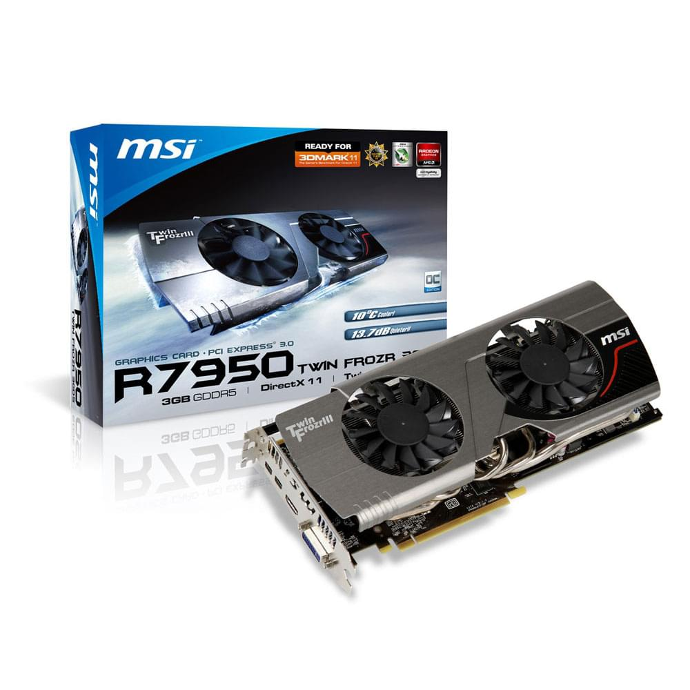 MSI R7950 Twin Frozr 3GD5 V2/OC (R7950 Twin Frozr 3GD5 V2/OC) - Achat / Vente Carte Graphique sur Cybertek.fr - 0