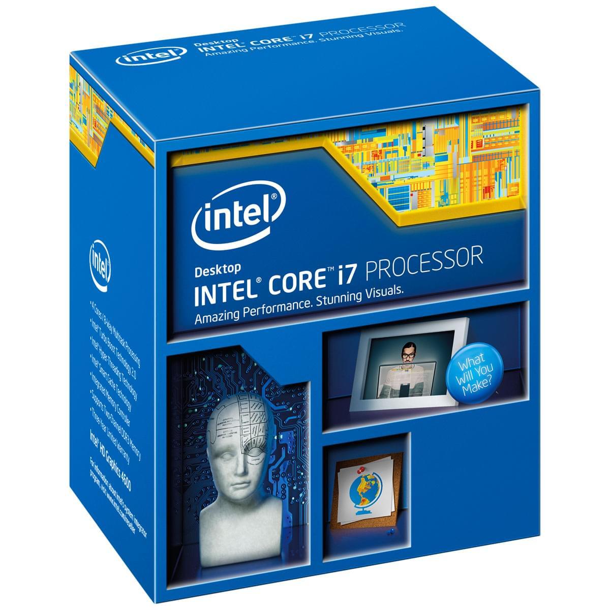 Intel Core i7 4770 (BX80646I74770 => 4790) - Achat / Vente Processeur sur Cybertek.fr - 0