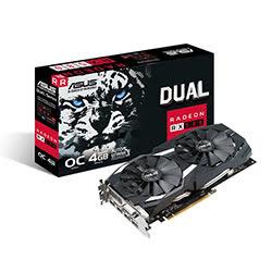 image produit Asus DUAL-RX580-O4G - RX580/4G/DVI/DP/HDMI Cybertek